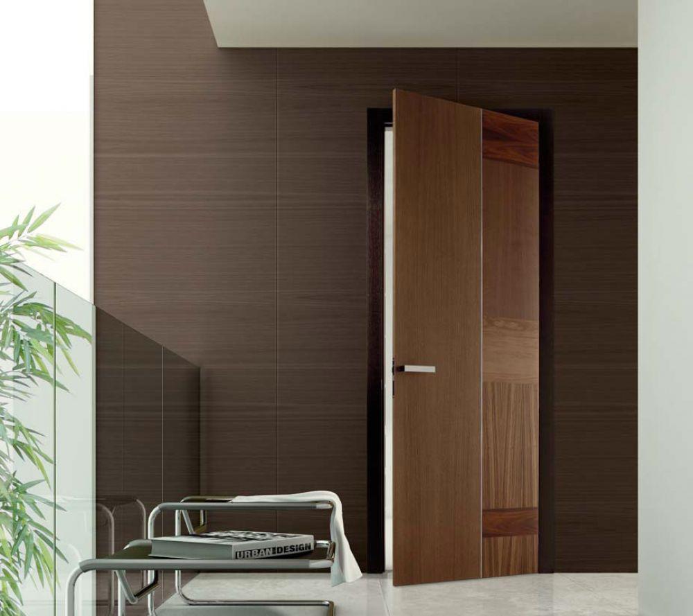 Porte interne in vetro e legno di top design per ambienti moderni