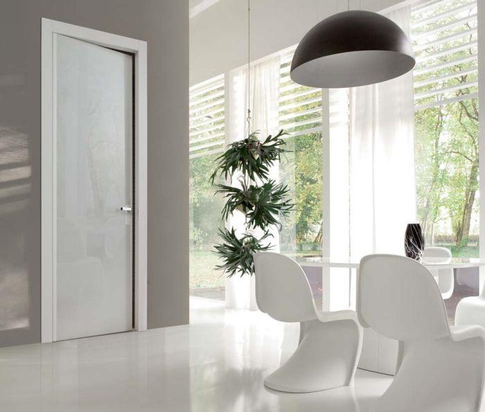 Reflex - Porta di design in legno laccato e vetro