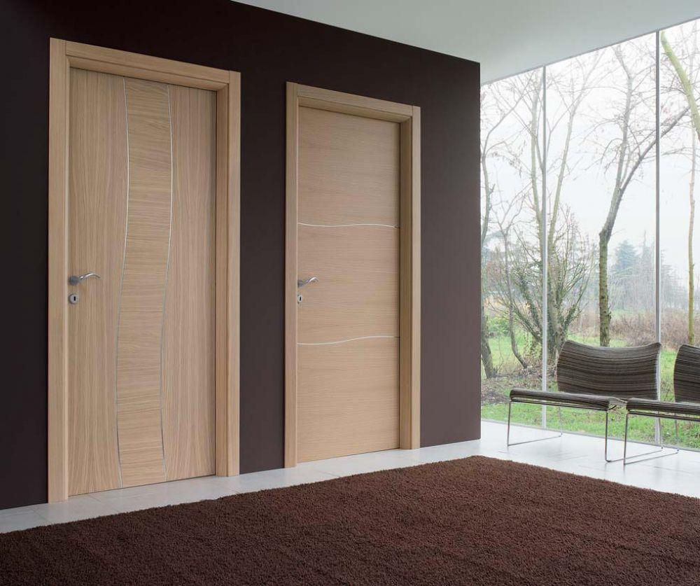 Porte battenti in legno laccato perla colorado e vegas 2 for Porte a salon
