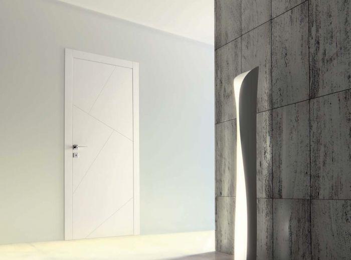 Rio - Porta per interni in legno laccato bianco