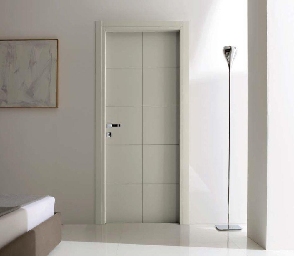 Finest tekna porta per interni in legno laccato grigio - Porte a soffietto colorate ...