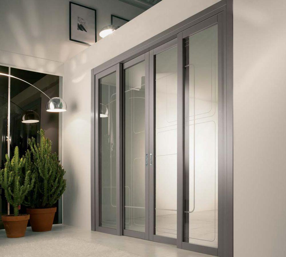 Spazio - Porta per interni in vetro trasparente