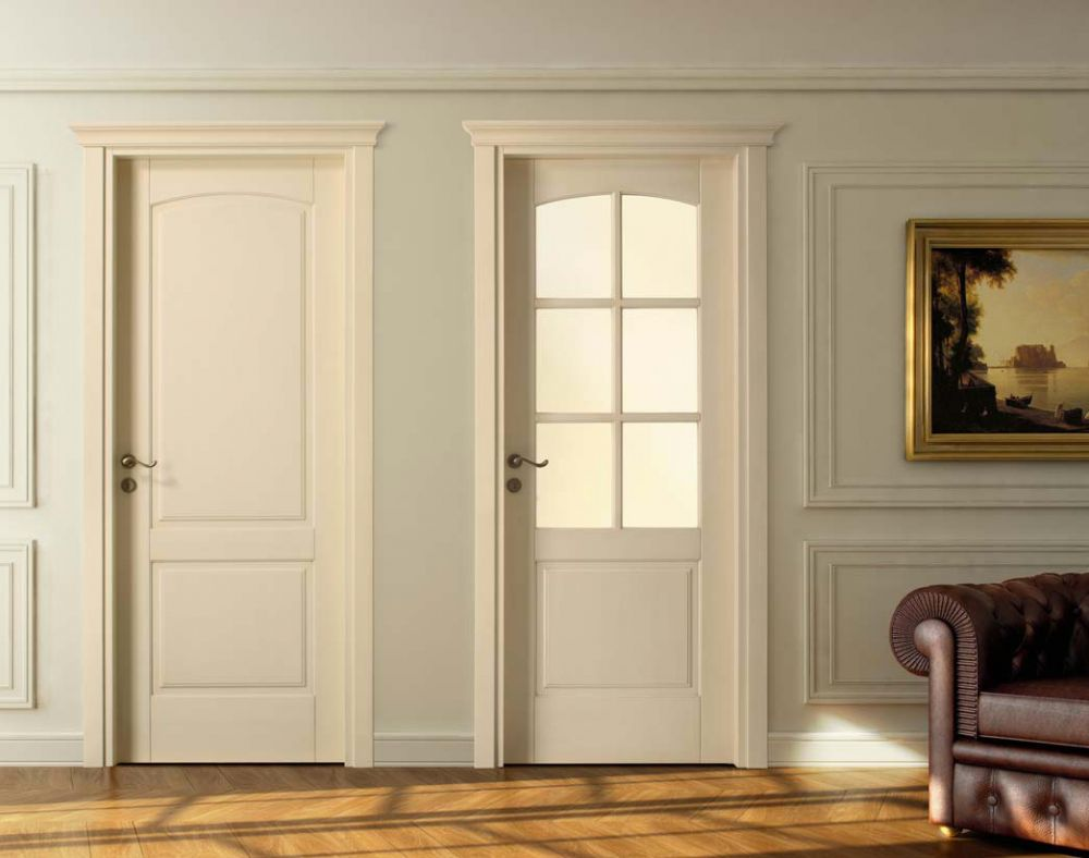 Porte classiche in legno e vetro per interni antique 2b for Modello di casa all interno