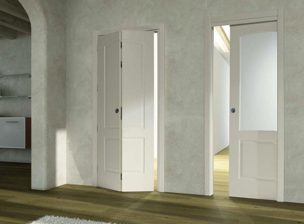 Porta a libro in legno porta scorrevole in vetro d2b - Bricoman porte interne ...