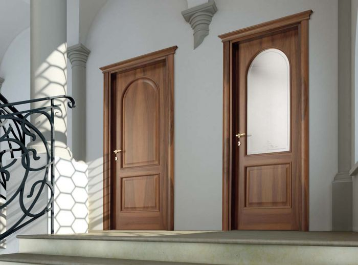 Porte in legno classiche per interni porte interne in - Porte in legno e vetro per interni ...