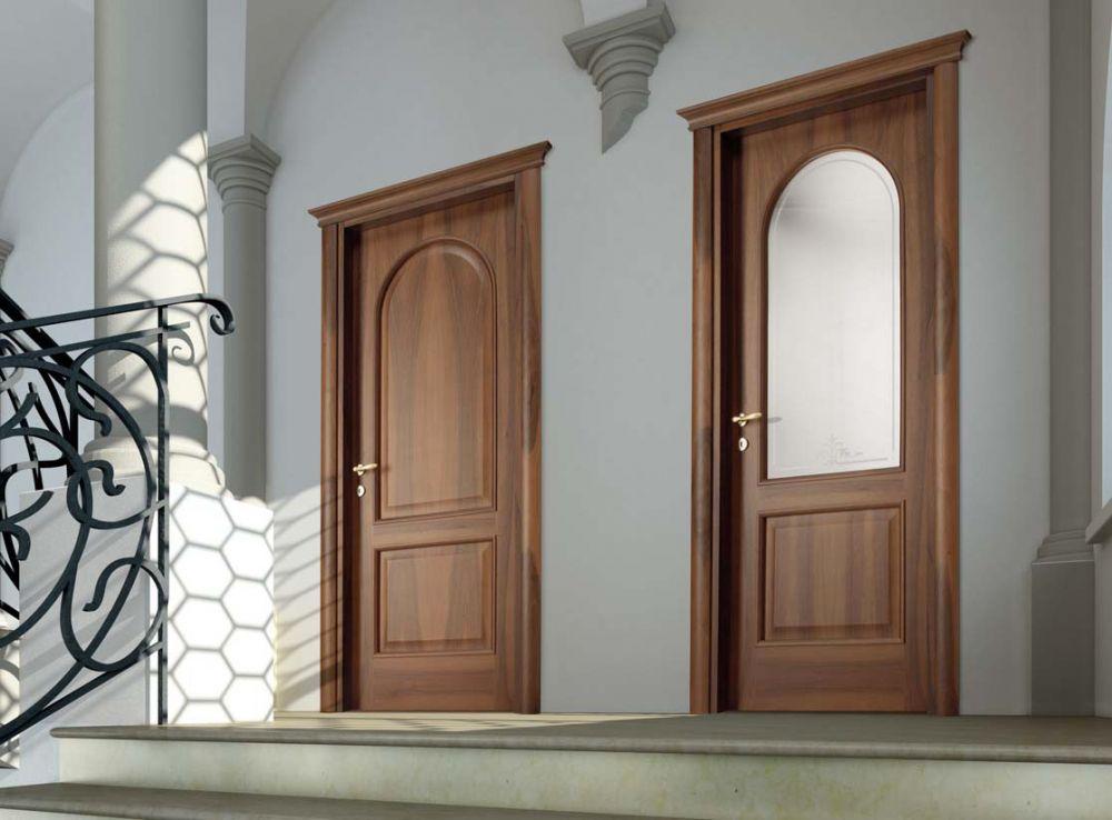 Porte classiche in legno e vetro satinato magistra cieca for Porta a libro bianca con vetro