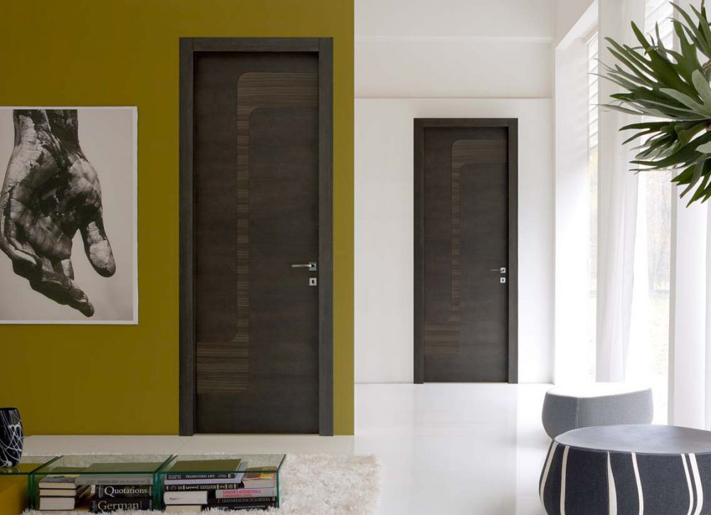 Stream - Porta di design in rovere grafite