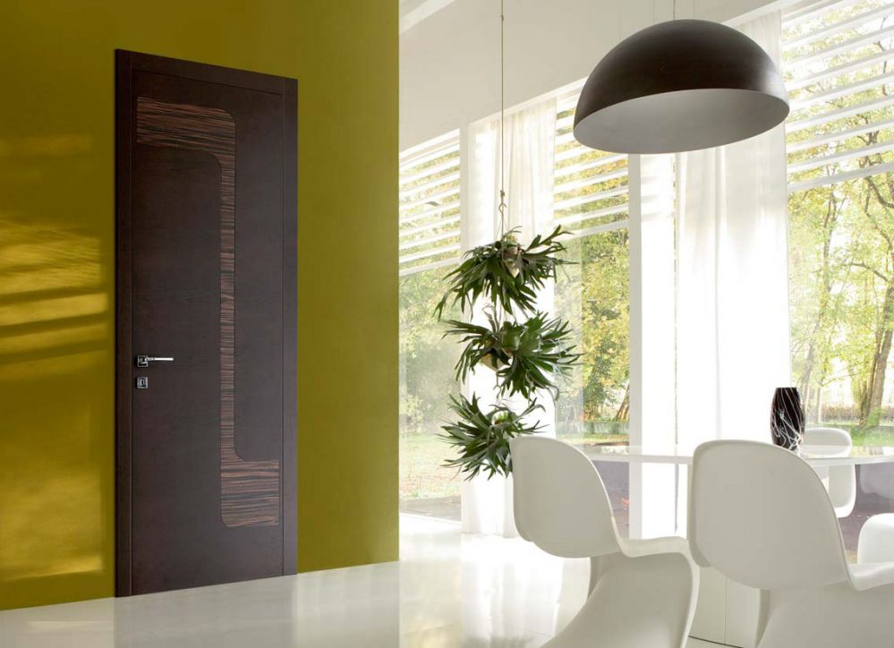 Stream - Porta di design in rovere wengé