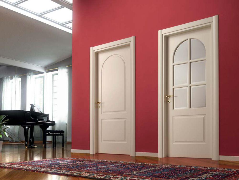 Porte battenti in legno laccato e vetro sabbiato d2c - Brico porte interne ...