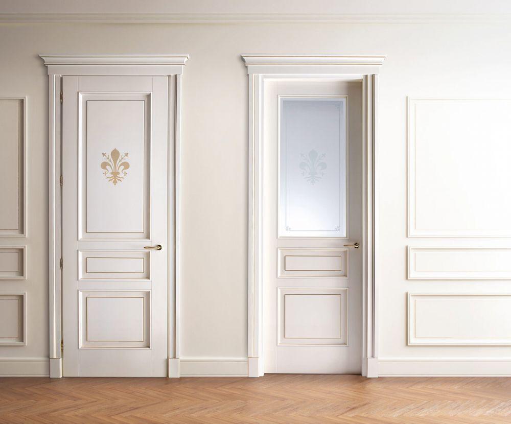 Porte in legno classiche per interni  Porte interne in legno in stile classico