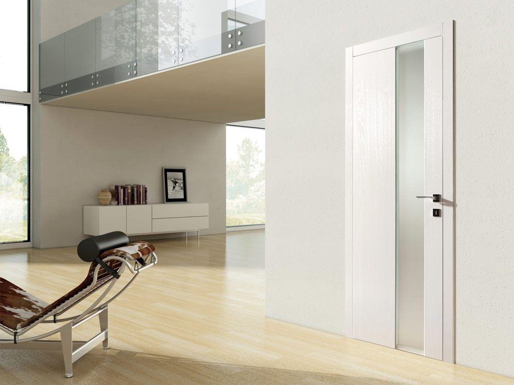 Porta a battente in legno e vetro sidney - Porte in vetro design ...