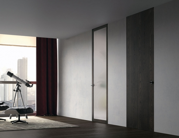 Lite Zero - porta filo muro in vetro