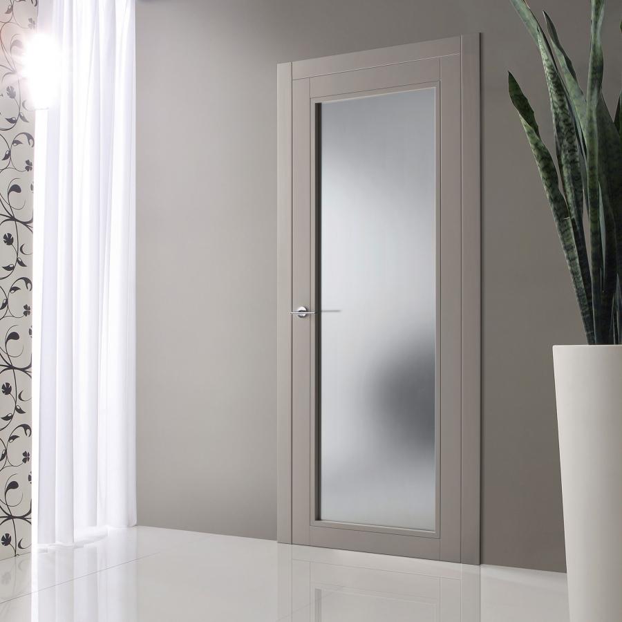 Porte Con Vetro Satinato porta battente in vetro satinato | omega
